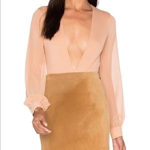 Stunning NWOT LPA Plunge Bodysuit